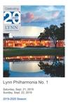 2019-2020 Philharmonia No. 1 by Lynn University Philharmonia, Guillermo Figueroa, Jon Robertson, and Hugo Valverde Villalobos