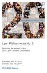 2019-2020 Philharmonia No. 3 by Lynn University Philharmonia, Guillermo Figueroa, Fabiola Hoyo, Yana Lyashko, Zulfiya Bashirova, Klyde Ledamo, and Askar Salimdjanov