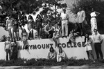 Students and the Marymount College Entrance by Marymount College