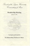 2004-2005 Membership Meeting and Concert