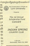 2004-2005 Scholarship Fund Concert at Indian Spring Country Club