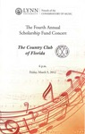 2011-2012 Scholarship Fund Concert at the Country Club of Florida