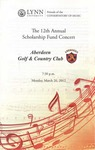 2011-2012 Scholarship Fund Concert at Aberdeen Golf & Country Club