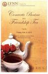 2012-2013 Concert Panino and Friendship Tea