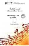2012-2013 Scholarship Fund Concert at the Country Club of Florida