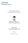 2016-2017 Scholarship Fund Concert at Royal Palm Yacht & Country Club