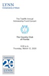 2019-2020 Scholarship Fund Concert at the Country Club of Florida