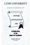 Honors Convocation: April 14, 2004