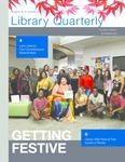 Library Quarterly - November 2019 by Jared Wellman, Tsukasa Cherkaoui, Paige Stewart, Leecy Barnett, Alison Leonard, Lea Iadarola, Stacy Alesi, and Sabine Dantus