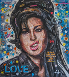 Amy Winehouse Collage by Andrew Hirst