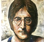 John Lennon Collage by Andrew Hirst