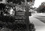Landgren Chapel Sign by Lynn University