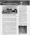 Marymount College Progress Report - Winter 1966 by Marymount College