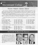 Marymount College Progress Report - Spring 1966 by Marymount College
