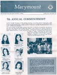 Marymount College Progress Report - Spring 1971