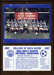 1987 NAIA Men's Soccer National Champions by College of Boca Raton