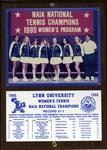 1995 NAIA Women's Tennis National Champions by Lynn University