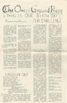 The Over-Ground Press: October 26, 1970 by The Over-Ground Press Staff