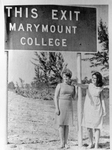 Marymount Turnpike Sign by Marymount College