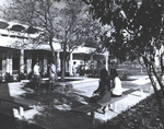 Students in Front of Founders Hall by Marymount College