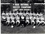 Men's Division 1987 NAIA National Soccer Champions by College of Boca Raton