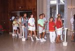 Students Wait in Line for Registration by Brad Broome