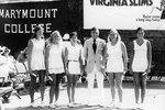 Dr Donald Ross and the Marymount Tennis Team at the Virgina Slims Tournament by Marymount College