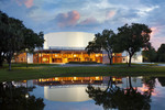 Wold Performing Arts Center Exterior at Dusk by Robert Brantley and Lynn University